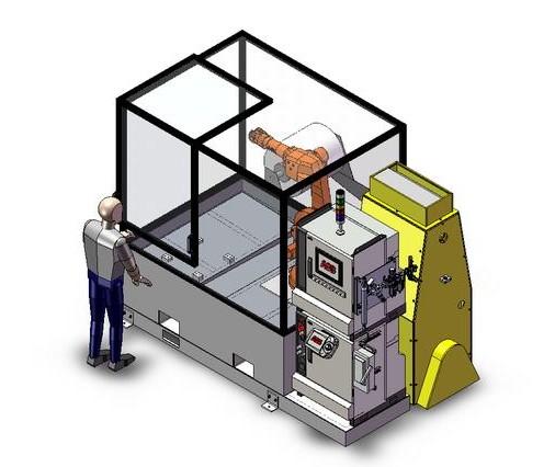 瑞士ABB机器人清洗与去毛刺系统:FlexWasher™ W30