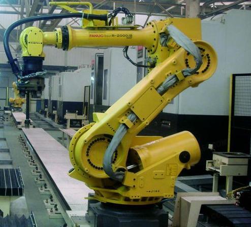 1台FANUC机器人实现5台数控机床上下料作业