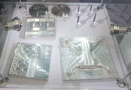 DATRON铣削机床加工工件在DMC2017模具装配展现场