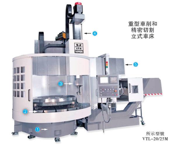 伍匠机械VTL-20/25M立式数控车床